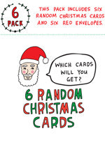 Able and Game Six Pack Cards - Random Christmas -Cards
