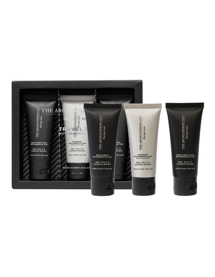 The Aromatherapy Co Therapy Man Travel Gift Set -Face and Body