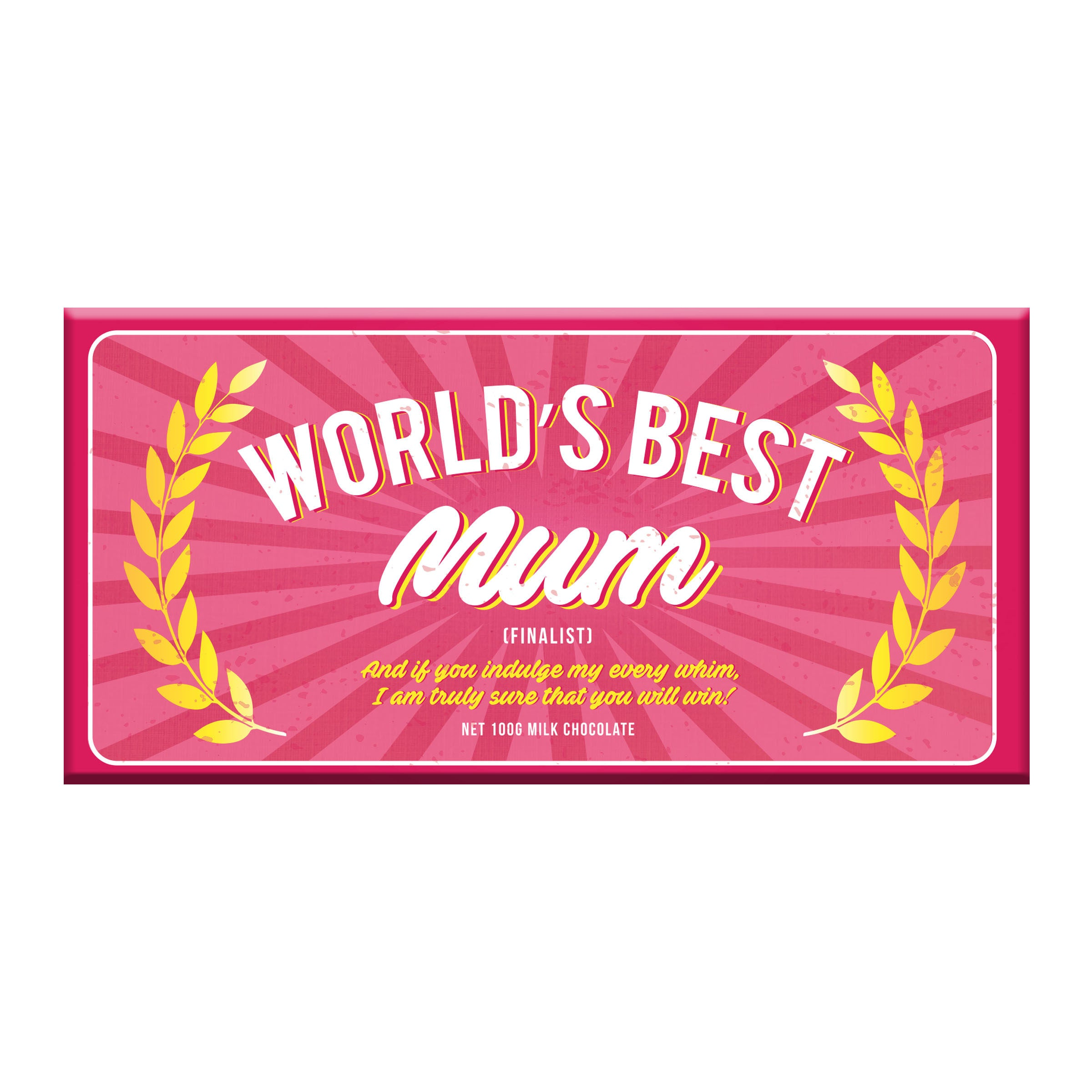 World's Best Mum Milk Chocolate - Pookipoiga