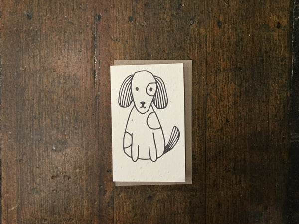 Planet Go Round Dog Seed Card -Cards Melbourne