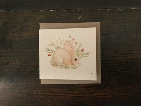 Planet Go Round Bunny Watercolour Seed Card (Small) -Cards Melbourne
