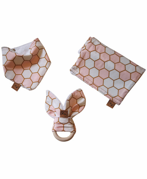 Sabine & Sparrow Baby Gift Set -Baby Gold Honeycomb Melbourne