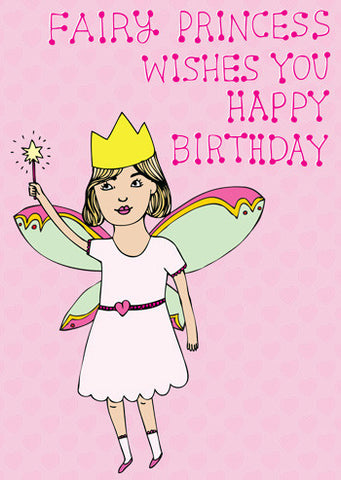 Fairy princess wishes you happy birthday