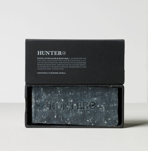 Hunter Lab Exfoliating Hand and Body Bar 220g -Face and Body Melbourne