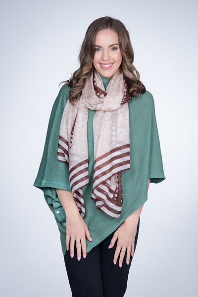 Brown Silk Scarf - last minute gift idea