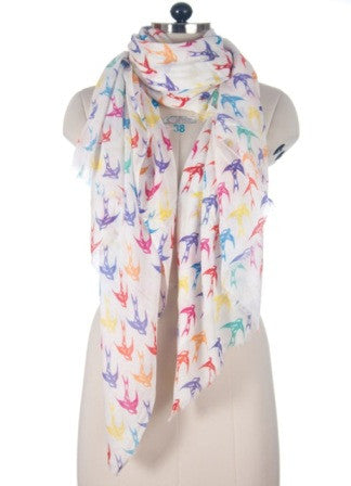 Nine Yaks Multicoloured Bird Shawl -Scarf Melbourne