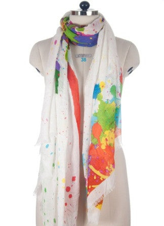 Nine Yaks Paint Splatter Shawl -Scarf Melbourne