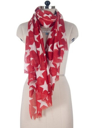 Nine Yaks Red Star Shawl -Scarf Melbourne