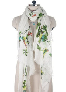 Nine Yaks White Bird Shawl -Scarf