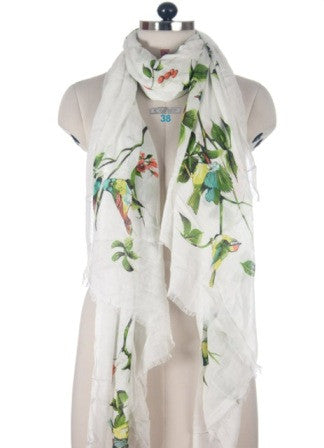 Nine Yaks White Bird Shawl -Scarf Melbourne