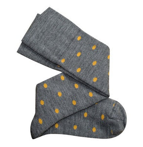 Tightology Dotty Merino Wool Socks -Socks Dotty Grey Mustard Melbourne