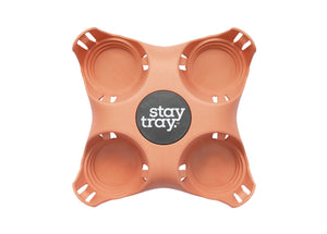 Stay Tray Stay Tray Coffee Cup Holder -Reusable Tray
