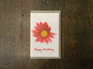 Happy Birthday Flower Seed Card - Pookipoiga