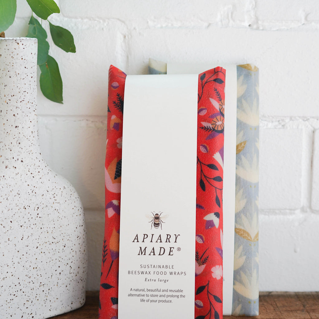 Apiary Made Sustainable Beeswax Food Wraps Extra Large -Food wrap