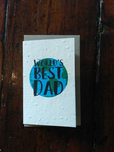 Planet Go Round World's best dad Seed Card -Cards