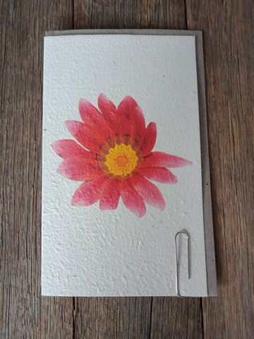 Watercolour Flower Seed Card
