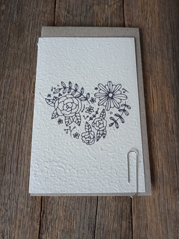 Flower Heart Seed Card