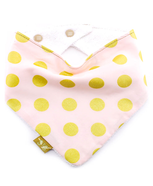 Gold Dots on Pink Bib - Australia