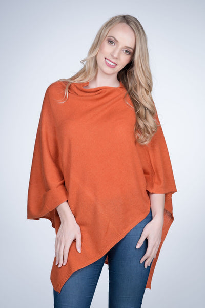 Cashmere-poncho-nine-Yaks-ethical-sustainable-clothing-fashion-orange-tangerine