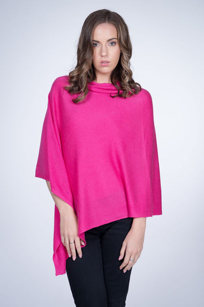 Cashmere-poncho-nine-Yaks-ethical-sustainable-clothing-fashion-hot-pink-fuschia