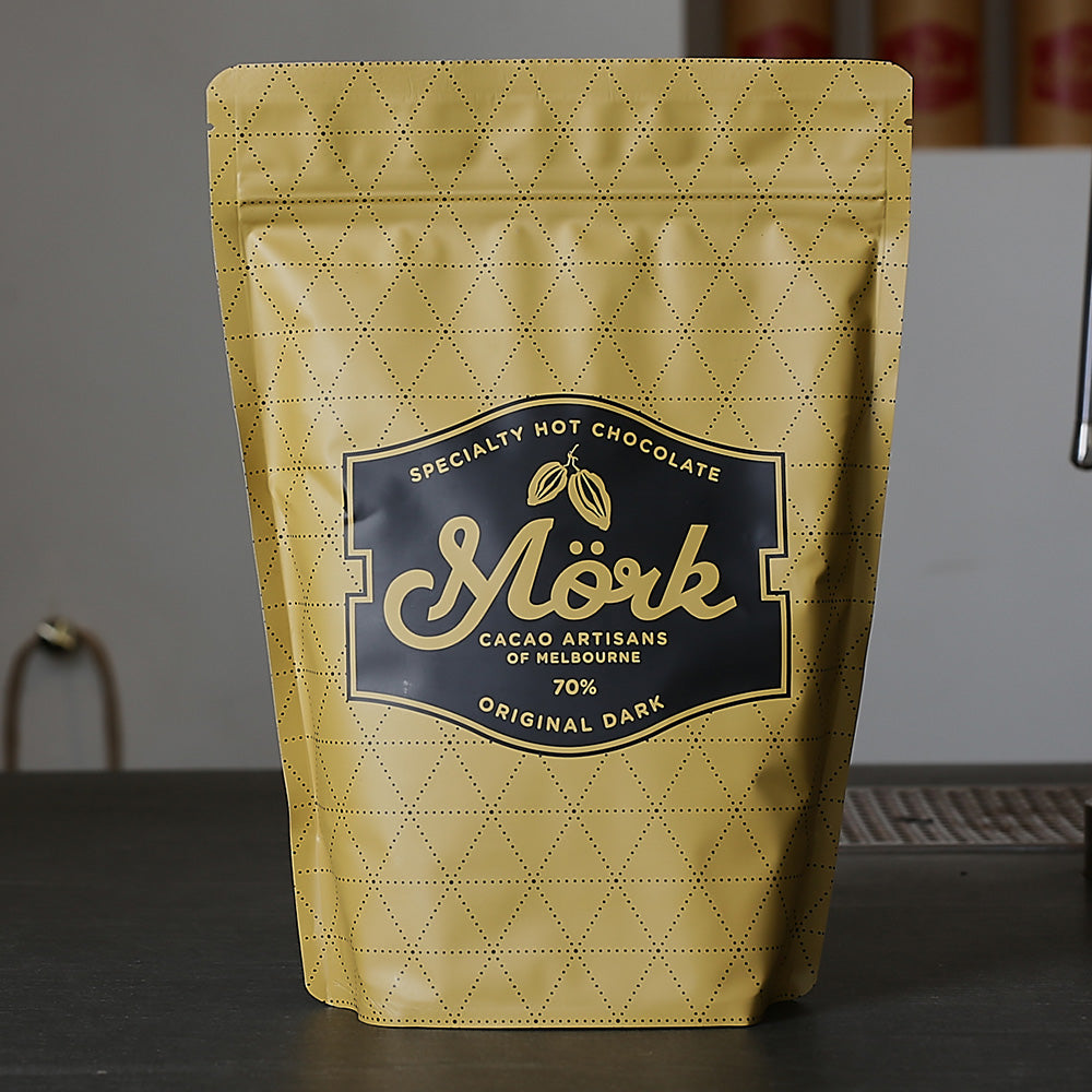 Mork Chocolate - Original Dark Hot Chocolate 70% – 1kg - last minute gift idea - melbourne