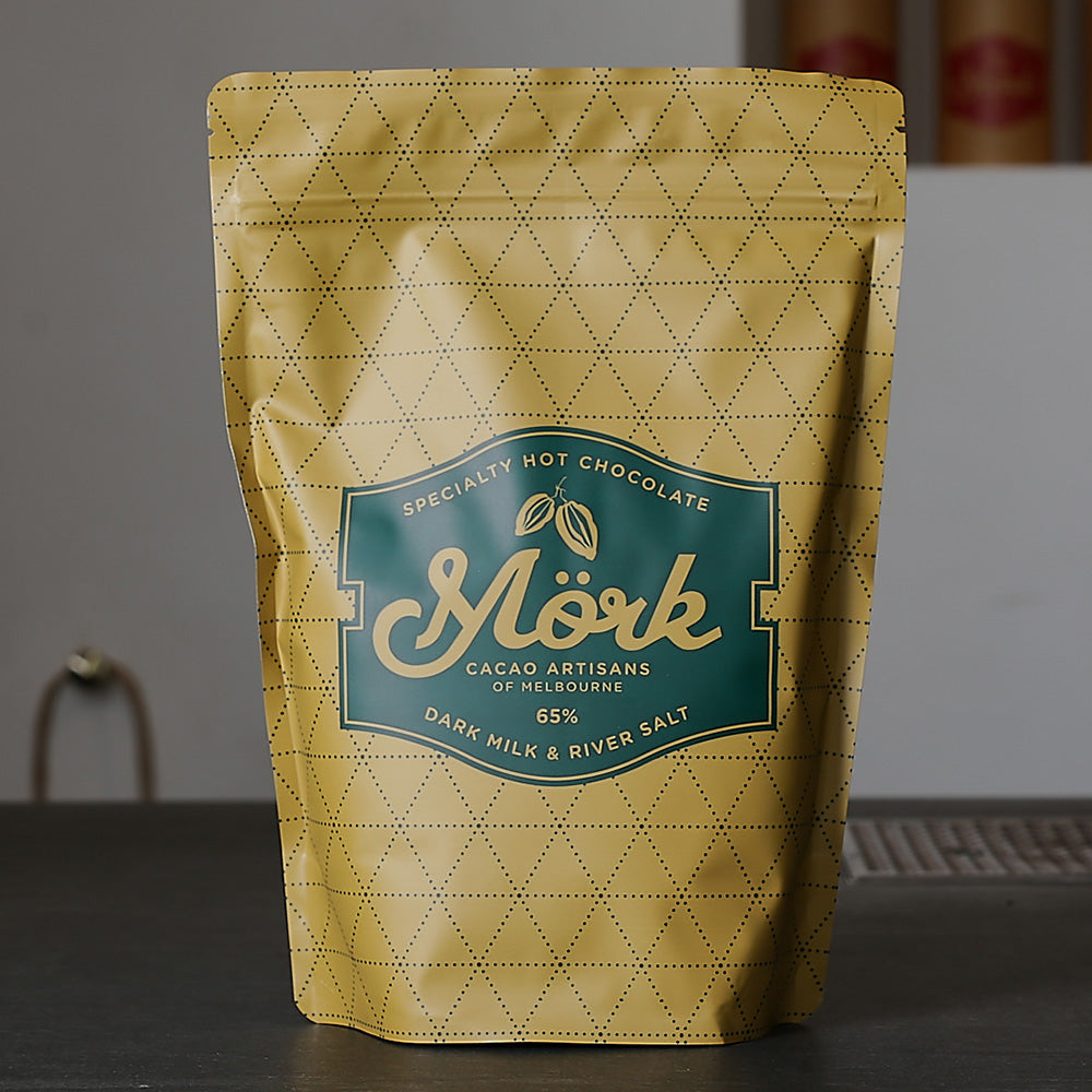 Mork Chocolate - Dark Milk & River Salt Hot Chocolate 65% – 1kg - last minute gift idea - melbourne