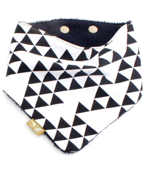 Sabine-and-Sparrow-monochrome-triangle-baby-bib