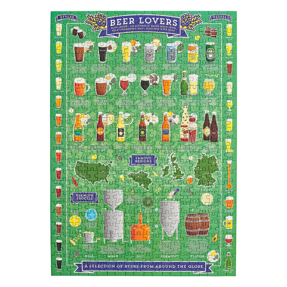 Ridley's Beer Lover's 500 Piece Jigsaw Puzzle - Pookipoiga