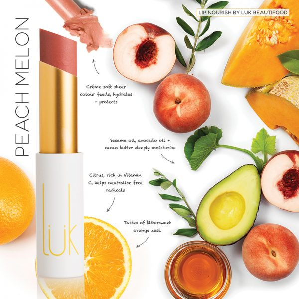 Luk Beautifood Lip Nourish Lipstick -Lipstick Peach Melon Melbourne