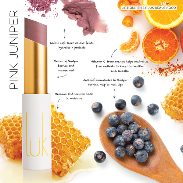 Luk Beautifood Lip Nourish Lipstick -Lipstick Pink Juniper Melbourne