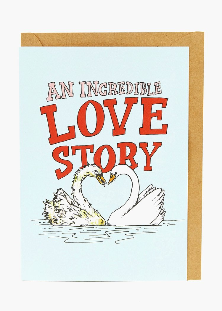 Wally Paper Co Swan Love Story -Cards