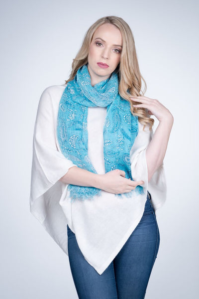Nine Yaks Linen Scarf Paisley -Scarf Melbourne