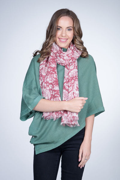 Nine Yaks Linen Scarf Roses -Scarf Melbourne
