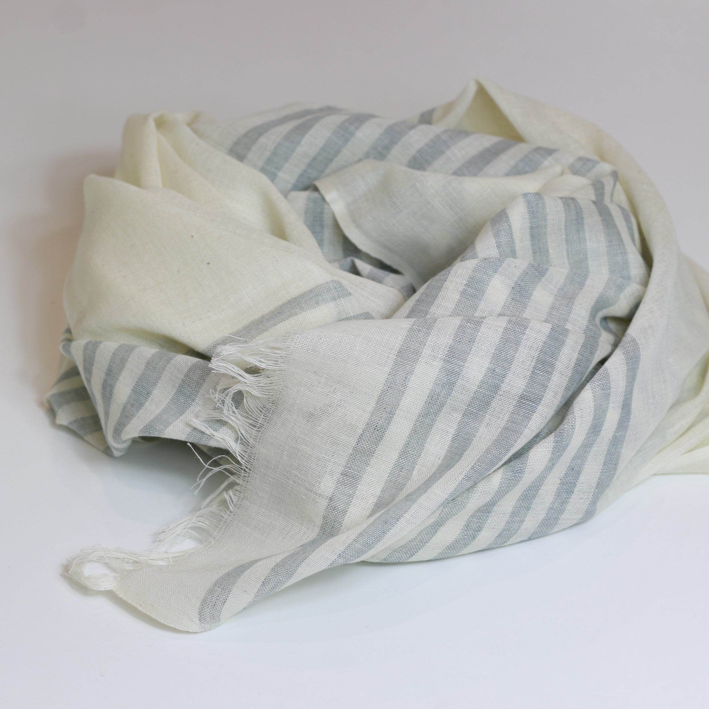 Nine Yaks - Cotton scarf - grey stripe - last minute gift idea - melbourne