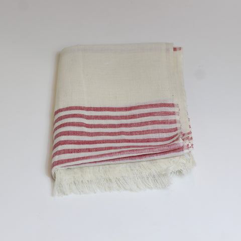 Cotton scarf - pink stripe - last minute gift idea