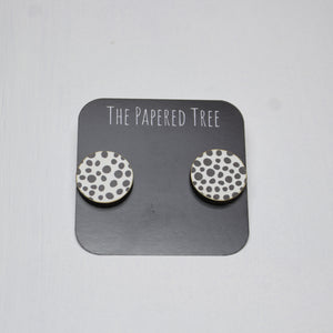 The Papered Tree - Statement clip on Stud Earrings - last minute gift idea - melbourne