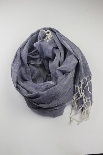 Pookipoiga Natural Cotton Sarong -Accessories Navy Melbourne
