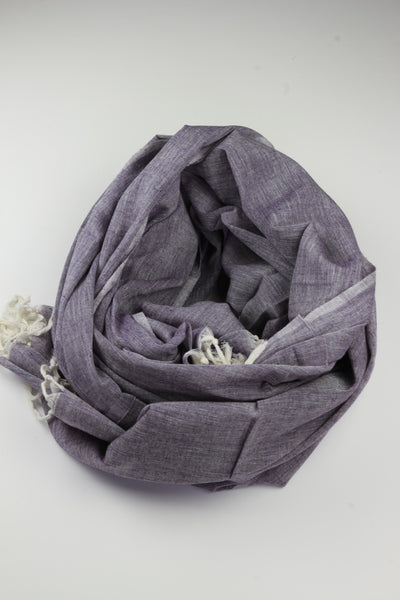 Pookipoiga Natural Cotton Sarong -Accessories Purple Melbourne