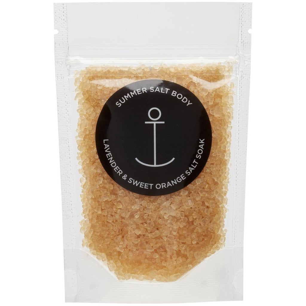Summer Salt Body Mini Salt Soak | Lavender & Sweet Orange - 70g -Face and Body