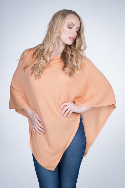 Cashmere-poncho-nine-Yaks-ethical-sustainable-clothing-fashion-orange-peach