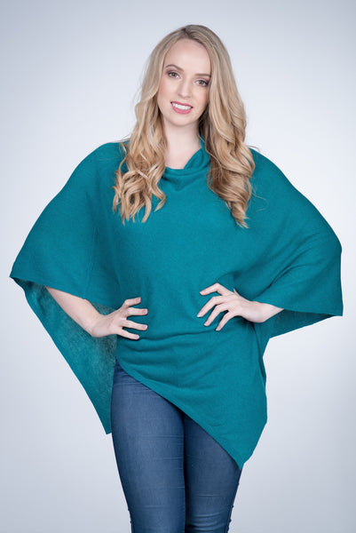 Cashmere-poncho-nine-Yaks-ethical-sustainable-clothing-fashion-teal-aqua-blue-green