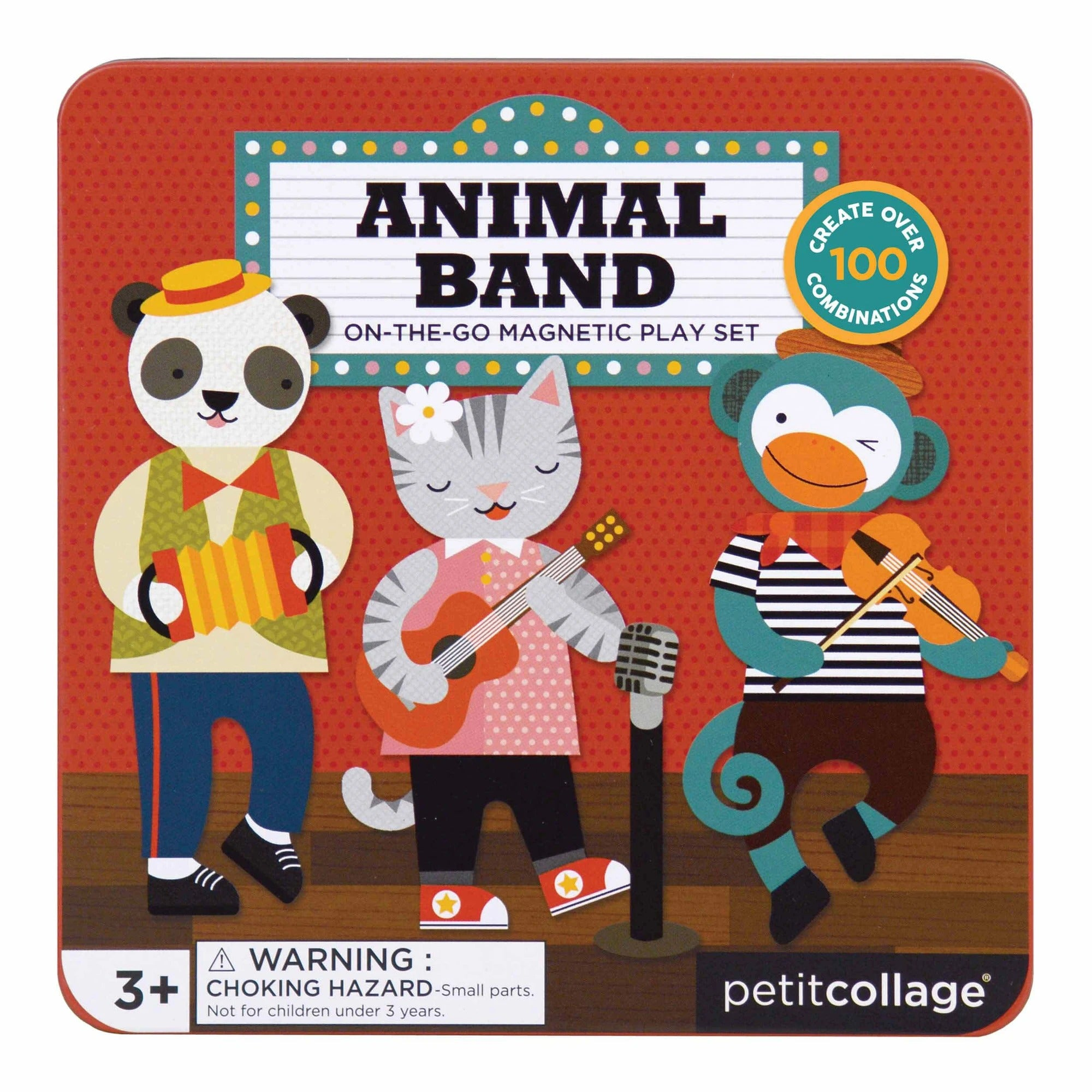 Petit Collage Petit Collage Animal Band Magnetic Play Set -Game
