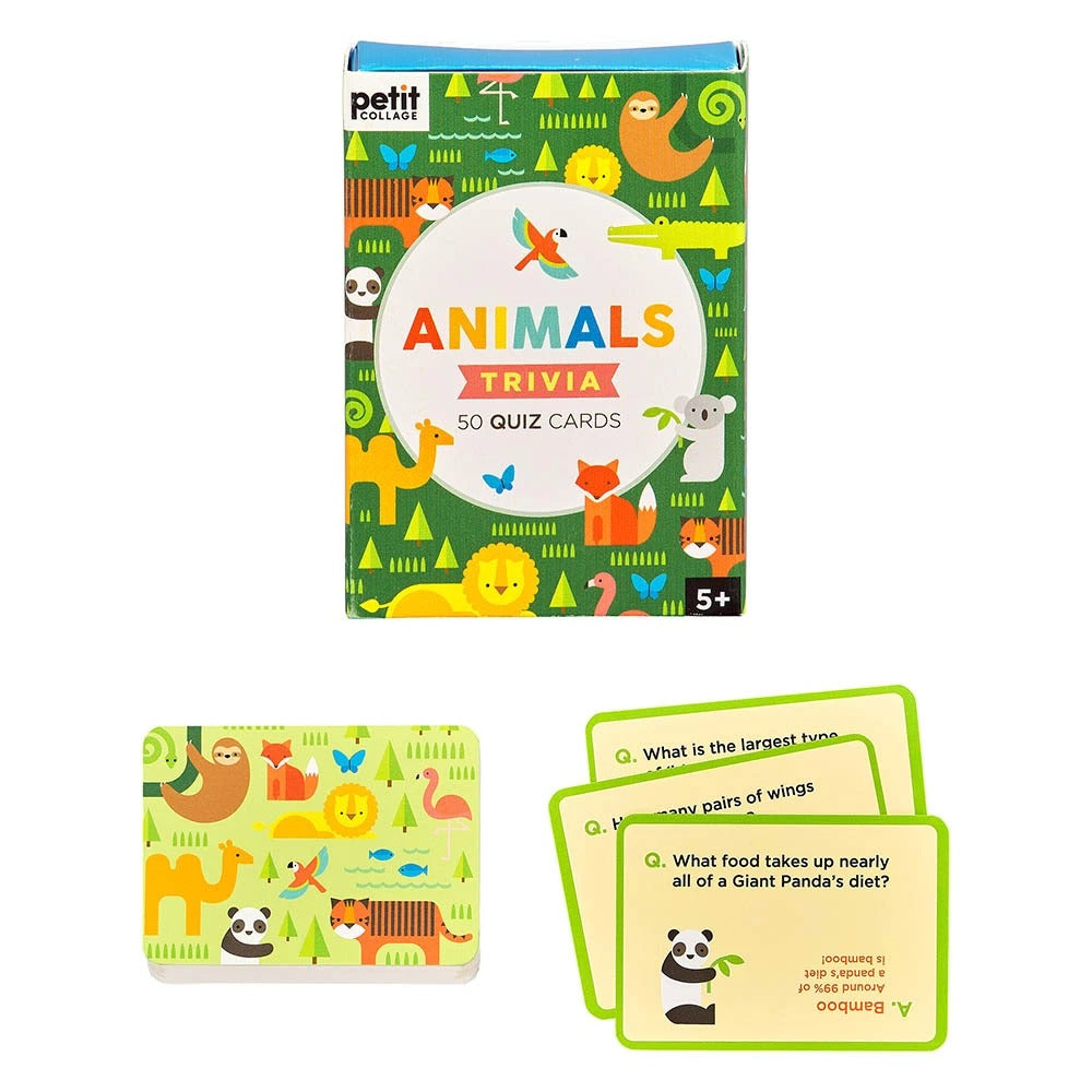 Petit Collage Petit Collage Animal Trivia Quiz Cards -Game