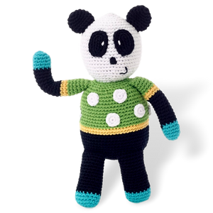 Pebble Crocheted Panda Toy -Toy