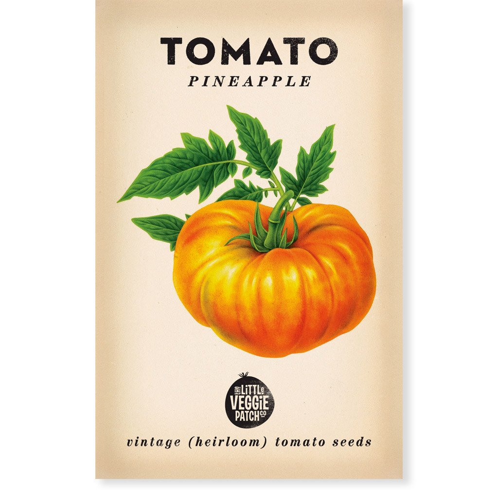 "Little Veggie Patch Co TOMATO ""PINEAPPLE"" HEIRLOOM SEEDS -Seeds"