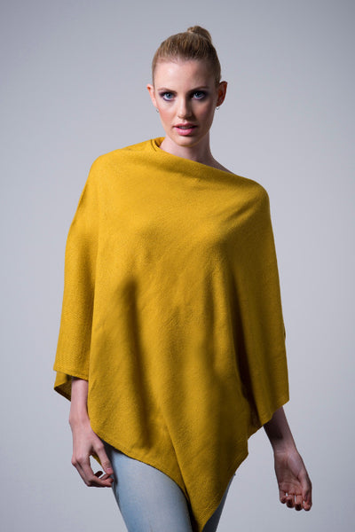 Cashmere-poncho-nine-Yaks-ethical-sustainable-clothing-fashion-yellow-mustard