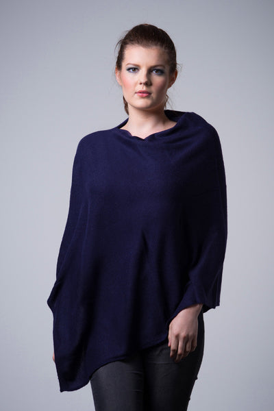 Cashmere-poncho-nine-Yaks-ethical-sustainable-clothing-fashion-navy-blue