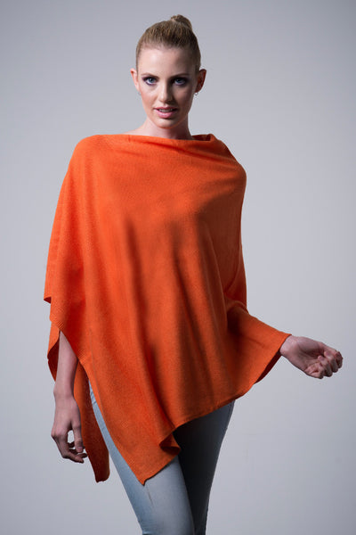 Cashmere-poncho-nine-Yaks-ethical-sustainable-clothing-fashion-orange