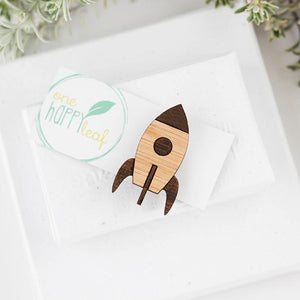 One Happy Leaf Rocket Brooch -Brooch