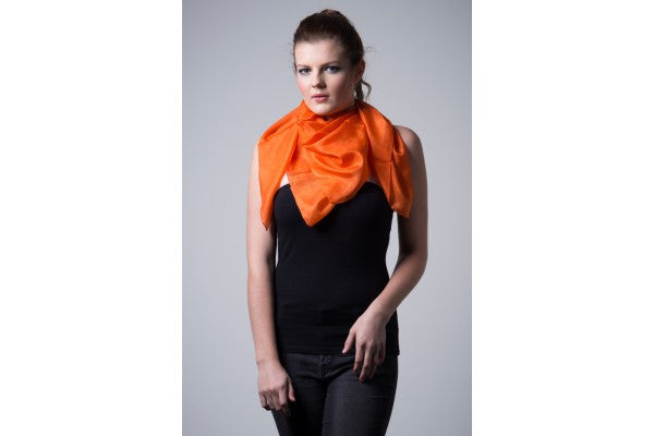 Nine Yaks Orange Silk scarf -Clothing
